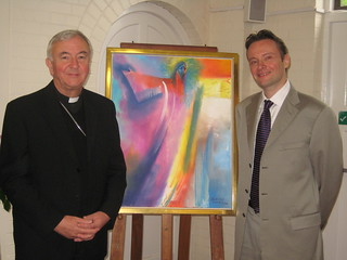 Archbishop Vincent Nichols with artist Stephen B Whatley. May 2012 | by Stephen B. Whatley