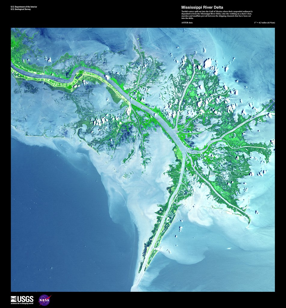 Mississippi River Delta Turbid Waters Spill Out Into The G Flickr - Mississippi river delta map