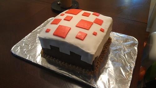 Minecraft Birthday Cake Recipe Real Life