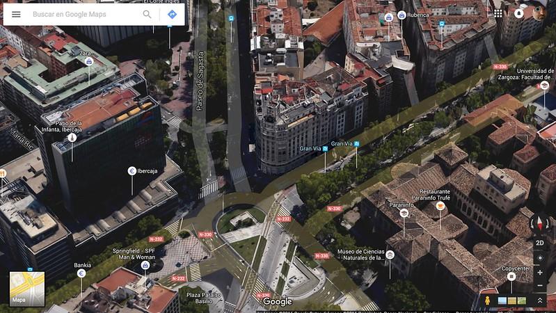 El centro de Aragón en Google