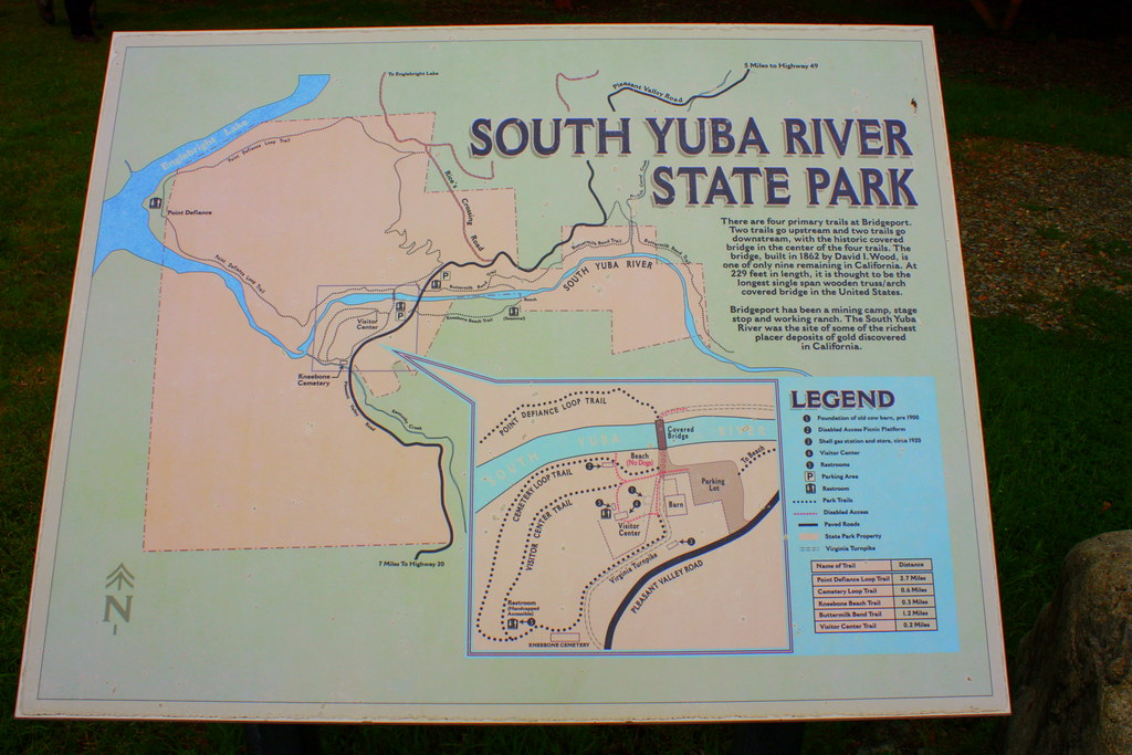 Map of South Yuba River State Park Buttermilk Bend Trail Flickr
