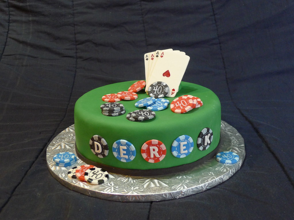 Poker Theme 40th Birthday Cake Hand Painted Poker Chips An Flickr
