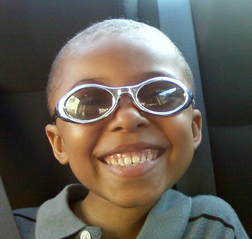 James and his cool glasses he got out of the grab box at school. | by BJN<32paint