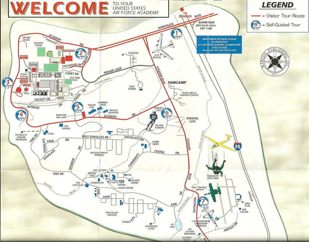 Map Of Air Force Academy Campus The Tourist Route Th Flickr - Air force academy map