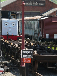 "Mavis shunting the ""troublesome trucks""! 