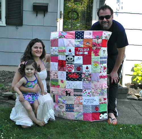 lola's quilt--made from her baby clothes | by melissa q