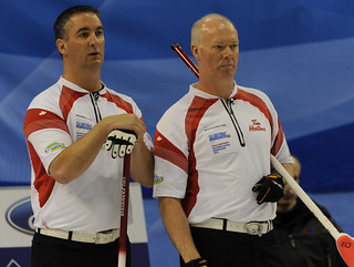 Basel Switzerland.April7_2012.Men's World Curling Championship.Canadian skip Glenn Howard.3rd.Wayne Middaugh.CCA/michael burns photo | by seasonofchampions