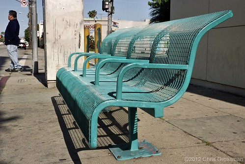 High Back Anti-Homeless Bus Bench - Rollei 35 T - Pro 160S | by divewizard