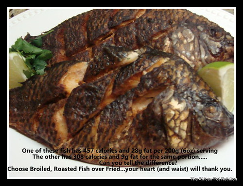 African grilled and african fried fish the african pot for Fried fish calories