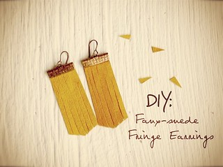 DIY Fringe Earrings | by Milk & Honey Handbags