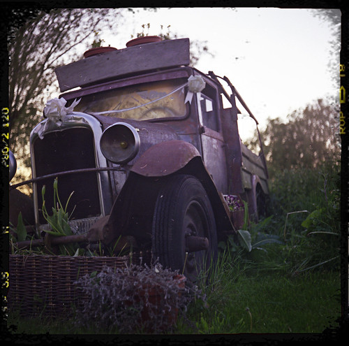 Ancient truck taken with a vintage camera by an old get. | by cactusmelba