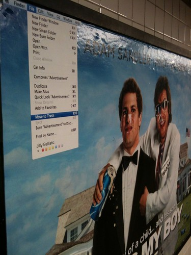 "File > Move To Trash (""That's My Boy"" movie poster; Manhattan bound L at Lorimer) 