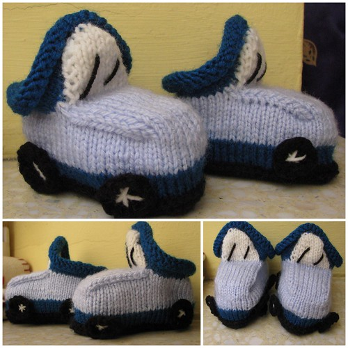 Blue car booties | by Pyziulka