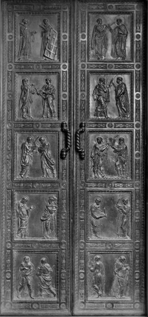 6.2 Donatello, bronze doors, Old Sacristy, San Lorenzo, Fl… | Flickr