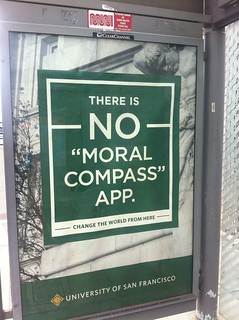 "There is no ""moral compass"" app. 