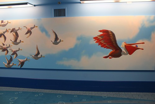 Finding Nemo hallway at Disney's Art of Animation Resort | by insidethemagic