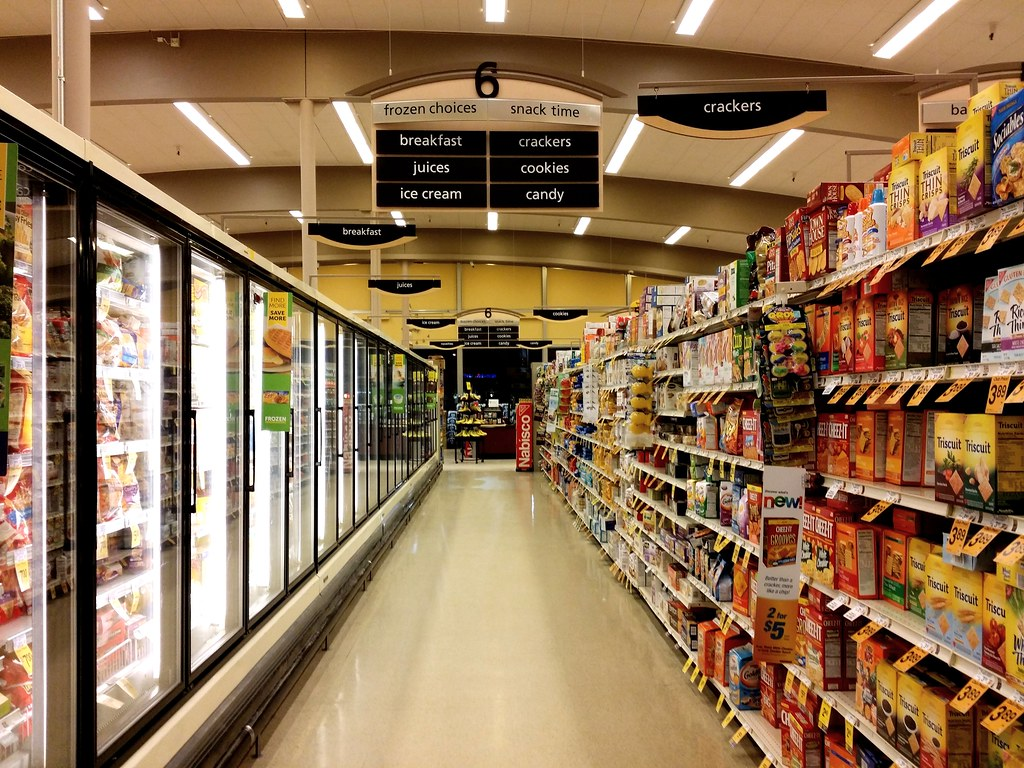 Grocery Store Aisle Map