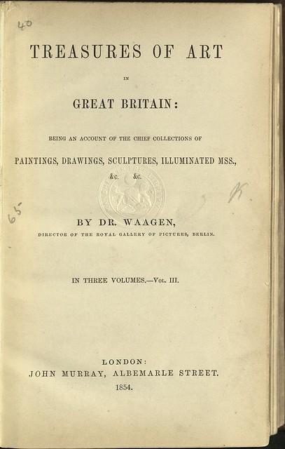 Treasures of Art In Great Britain by Waagen
