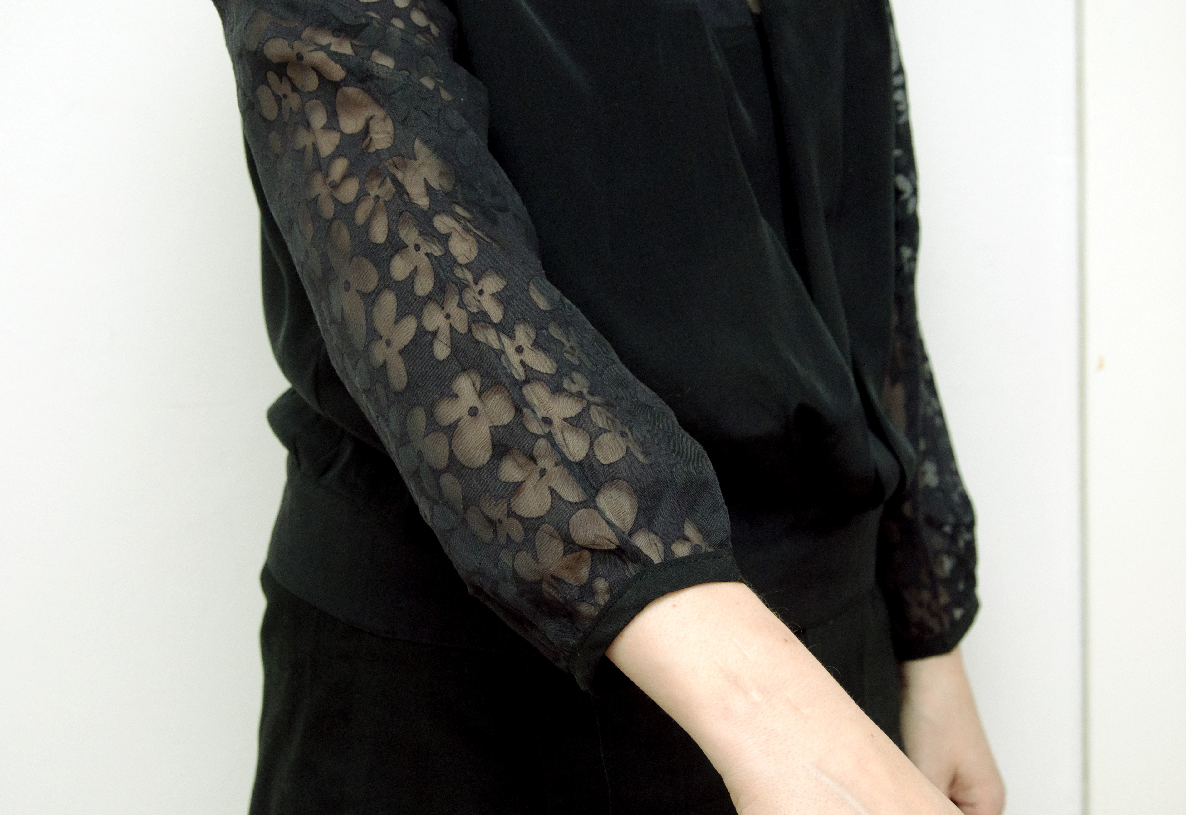 Burdastyle silk and lace blouse