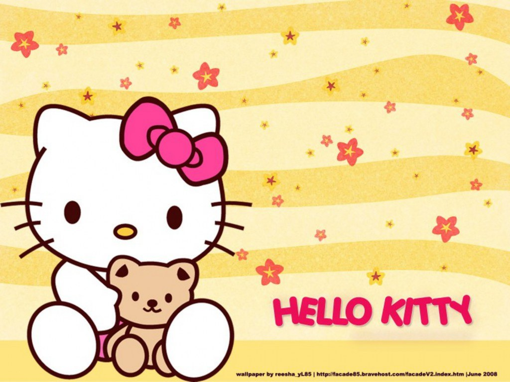 Hello Kitty Cute Yellow Wallpaper Hello Kitty Uyul Blue Flickr