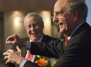 Former Senate Majority Leader George Mitchell addresses crowd at Dole Institute | by ljworld.com
