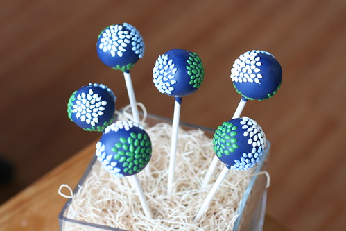 Piped Floral Sunburst Cake Pops | by Sweet Lauren Cakes