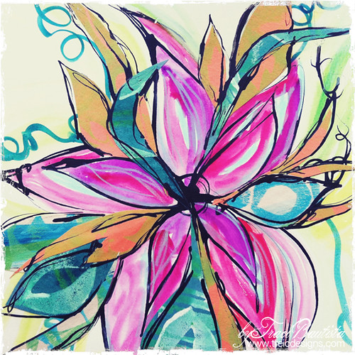 Doodles Unleashed Video Kit Club project two: pipette FLOWERS | by treiCdesigns