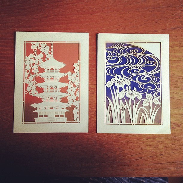 vintage laser cut japanese greeting cards so inspiring  flickr, Greeting card