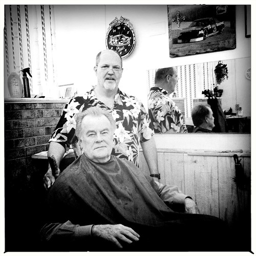 getting spiffed at Boyd's barber shop | by Forrest Seas
