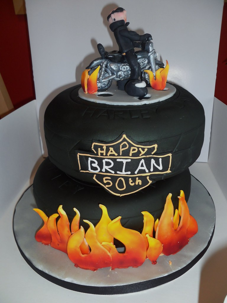 Harley Davidson Cake Decorations Harley Davidson Cake All Of This Cake Is Airbrushed My Fi Flickr