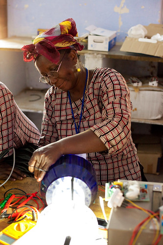 Solar engineering student from Liberia | by UN Women Gallery