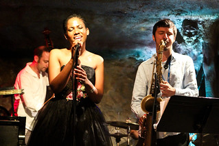 Integriti Reeves, vocals, Elijah Balbed, saxophone and Jeff Reed, bass | by Timothy Forbes Photography