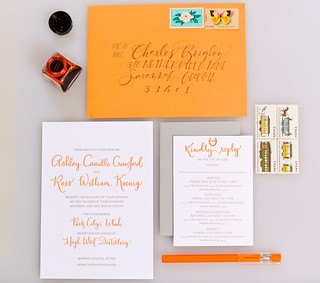Bright and Modern Calligraphy Invitation | by Sarah Parrott