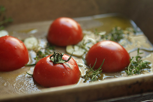 oven-roasted tomatoes | by David Lebovitz