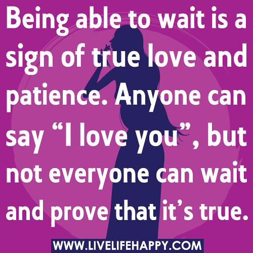 The sign of true love