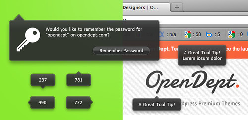 Freebies - Firefox style Transparent Tool Tips (PSD) | by The Open Dept.