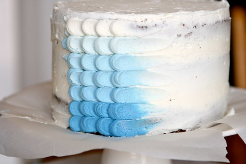 Blue Ombre Petal Cake | by Hungry Housewife