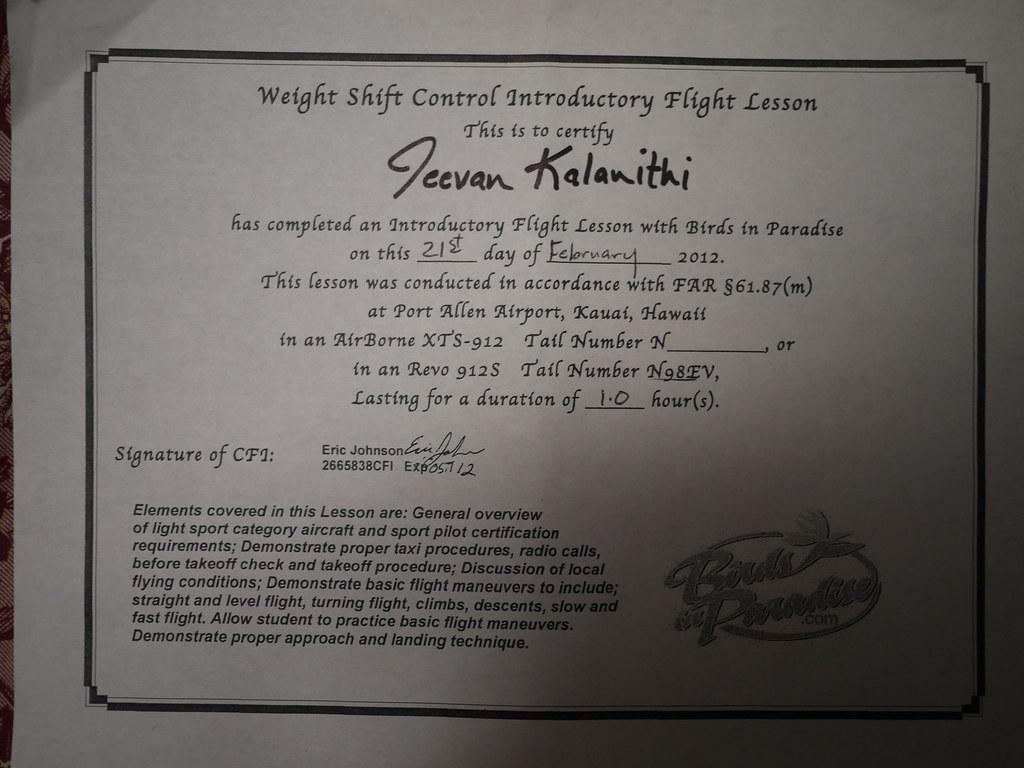 Flying Certificate Notjeevan Flickr