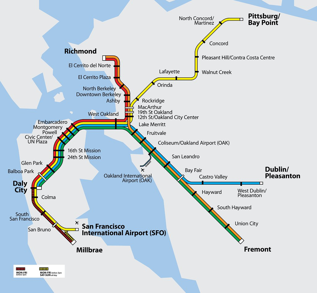 Bart System Map BART System Map | Official BART Map: .bart.gov/stations/i… | Flickr Bart System Map