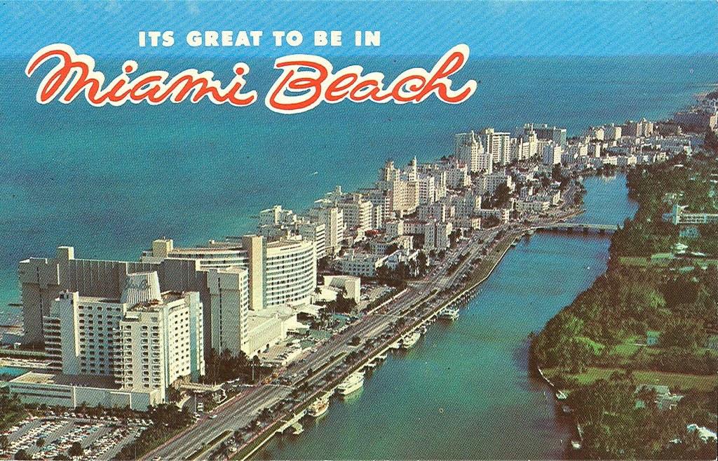 1960s Miami Beach Postcard 1960s Miami Beach Postcard Aeri Flickr