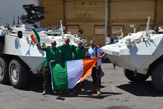 Tpr Liam Quinn,Tpr Michael Hurley,Tpr Kevin Cambridge and Tpr Paul Quigley all from Cork | by Irish Defence Forces