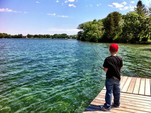 Camp fishing silver lake oconomowoc wisconsin indian for Lake gregory fishing report
