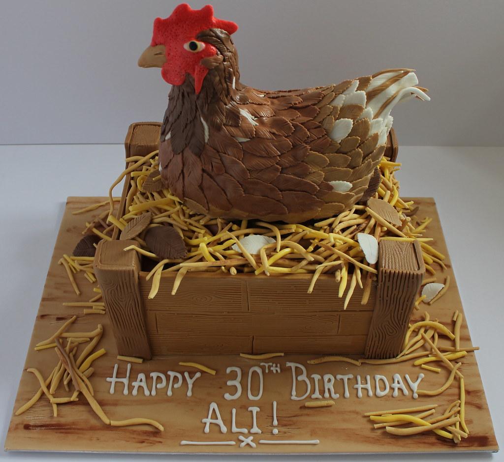 Nesting Chicken Birthday Cake Pauls Creative Cakes Flickr