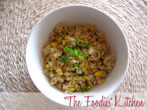 Sweet Corn & Quinoa with Honey Lemon Vinaigrette | by twofoodies