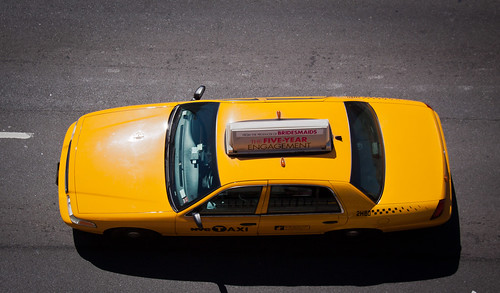 Overhead Shot of a NYC Taxi - Queens Boulevard, Sunnyide | by ChrisGoldNY