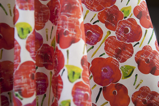 Valley Designs: Fabric Garden: Red Poppies | by Spoonflower Fabrics