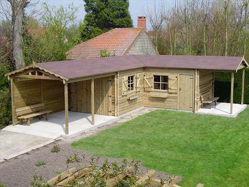 Garage carport avec abri de jardin int gr classique flickr - Carport avec abri de jardin integre ...