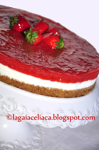 cheese cake yogurth e fragole | by mammadaia
