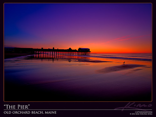 The Pier at Old Orchard Beach in Maine Before Sunrise | by Captain Kimo