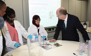 Nick Gibb with a Dux award 2012 winner. | by educationgovuk